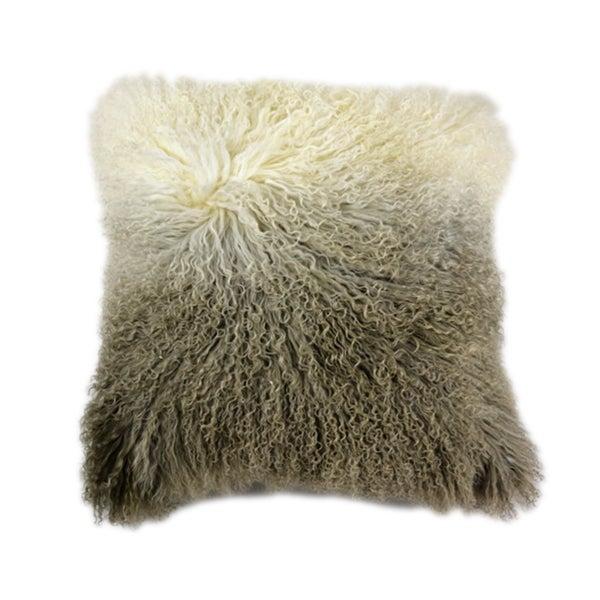 Aurelle Home Soft Mongolian Lamb 22-inch Pillow