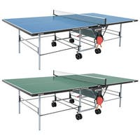 Butterfly Playback Indoor/Outdoor Rollaway Table Tennis Ping Pong Table with Net Set and Accessory Holder