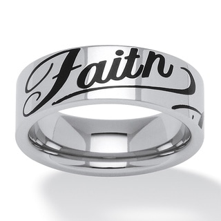 PalmBeach Faith Ring in Black IP Stainless Steel Tailored