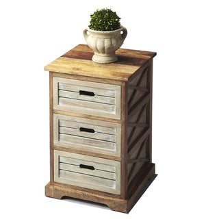 Handmade Butler Modern Expressions 3-Drawer Side Table (India)