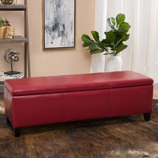 Lucinda Faux Leather Storage Bench (5 options available)