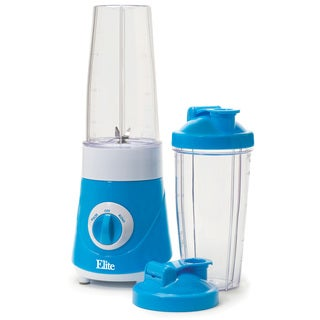 Maxi-Matic Elite EPB-2572BL Personal Drink Mixer with Two Travel Cups, Blue