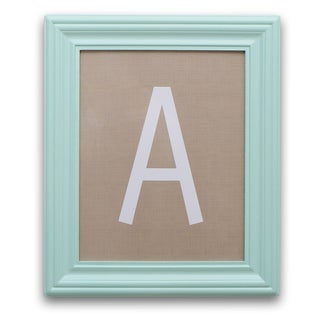 The Peanut Shell Framed Letter Art in Mint and Taupe
