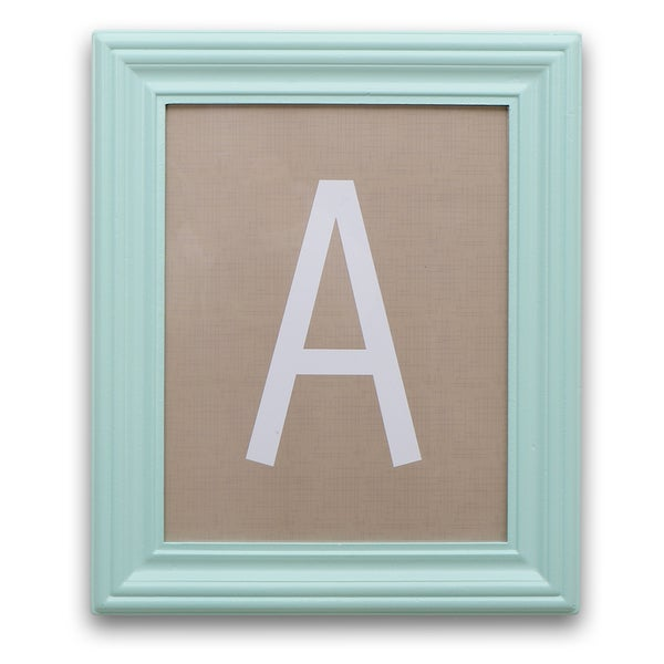 Shop The Peanut Shell Framed Letter Art in Mint and Taupe   Free
