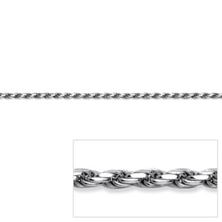 "Diamond-Cut Rope Chain Necklace in Sterling Silver 24"" Tailored"