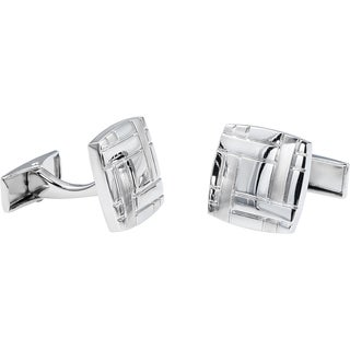 Rhodium-plated Square Cufflinks