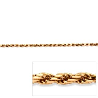"PalmBeach Rope Chain in 18k Gold over Sterling Silver 24"" Tailored"
