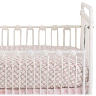 Sweet & Simple Girls' Pink Fitted Crib Sheet