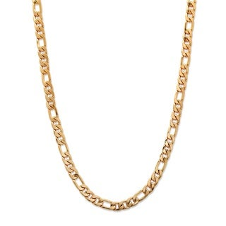 Gold Overlay Men's Figaro Link 6.5mm Chain Necklace