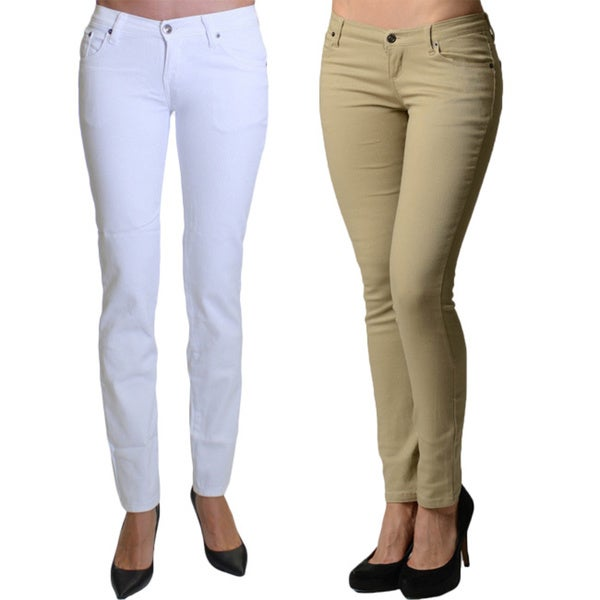 96d3196aad88 Shop Dinamit Juniors' 5-Pocket Skinny Uniform Pant (Pack of 2) - Free  Shipping On Orders Over $45 - Overstock - 11421190