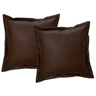 Faux Leather 17-inch Throw Pillows (Set of 2)