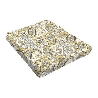 Sloane Grey Gold Paisley Outdoor Tapered Chair Cushion