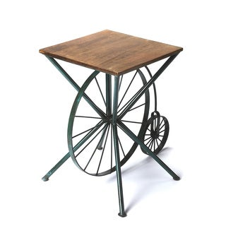 Industrial Chic Accent Table