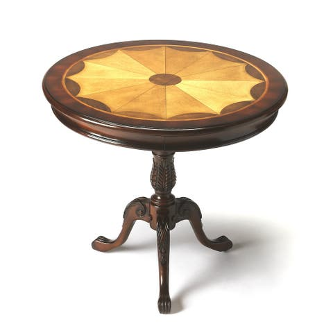 Butler Carissa Cherry Plantation Round Pedestal Table