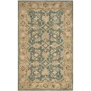 Safavieh Handmade Antiquity Teal Blue/ Taupe Wool Rug (3' x 5')|https://ak1.ostkcdn.com/images/products/11421275/P18383947.jpg?impolicy=medium