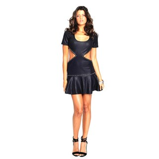 Sara Boo Studded Dress with Cutouts