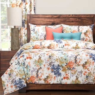 Siscovers Summer Peach Floral 6-piece Duvet Set with Duvet Insert