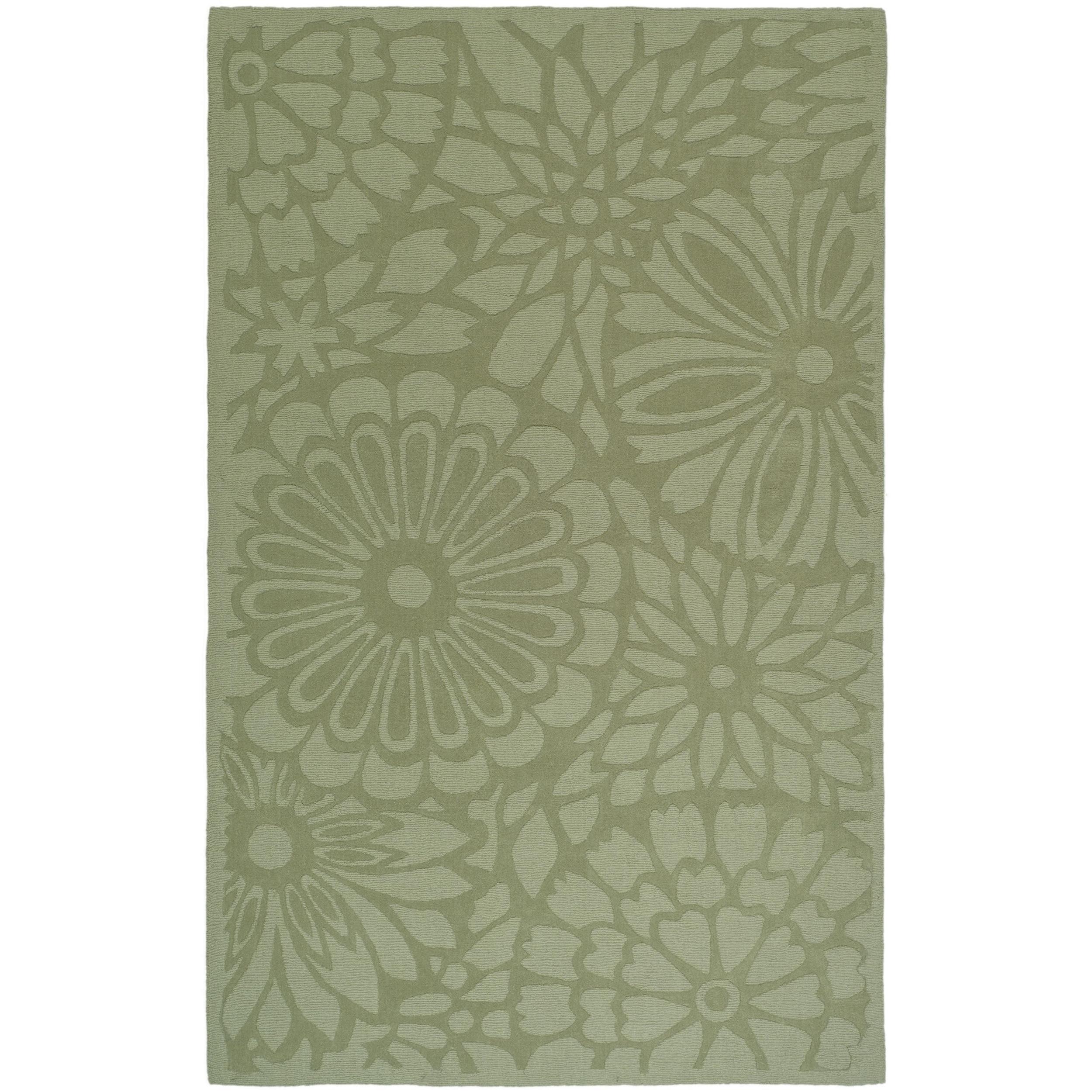 Martha Stewart by Safavieh Full Bloom Pumpkin Seed Wool R...