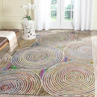 Safavieh Handmade Nantucket Modern Abstract Beige Cotton Rug (4' x 6')