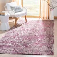Safavieh Palazzo Light Grey Anthracite/ Purple Overdyed Area Rug (2'6 x 5')