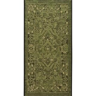 Safavieh Palazzo Black/ Cream/ Dark Green Oriental Area Rug (2'6 x 5')