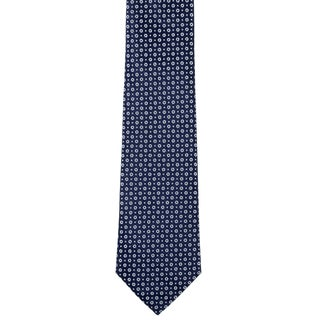 Davidoff 100-percent Silk Blue Dot/ Circle Neck Tie