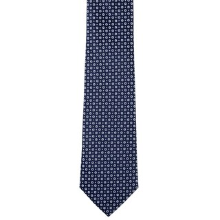Davidoff 100-percent Silk Blue Dot/ Circle Neck Tie