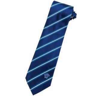 Versace 100-percent Italian Silk Teal/ White Stripe Neck Tie