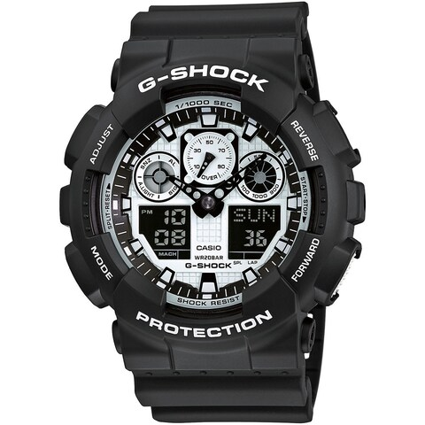 Casio G-Shock GA-100BW-1A Black & White Series Men's Watch