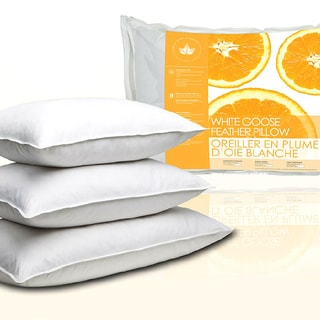 Link to Canadian Down & Feather Company White Goose Feather Pillows (Set of 2) Similar Items in Pillows