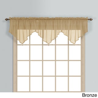 Luxury Collection Monte Carlo Coordinating Sheer Voile Ascot Valance (Option: ASCOT VALANCE BRONZE)