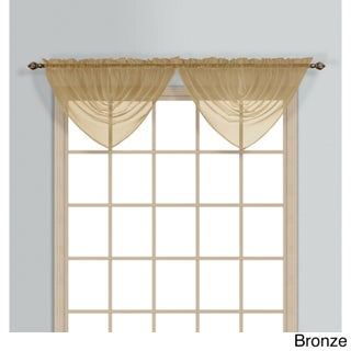 Luxury Collection Monte Carlo Coordinating Sheer Voile Waterfall Valance (Option: Bronze)