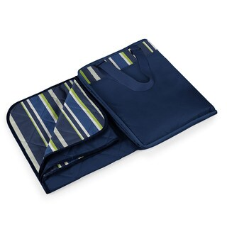 Picnic Time Vista Navy XL Blanket Tote