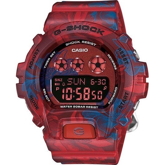 Casio G-Shock Women's GMDS6900F-4CR Digital Dial Red/Blue...