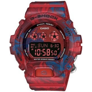 Casio G-Shock Women's GMDS6900F-4CR Digital Dial Red/Blue Resin Watch