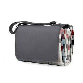 Picnic Time Carnaby Street Plaid with Grey Flap XL Blanket Tote