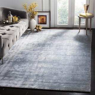 Safavieh Handmade Mirage Modern Light Grey Viscose Rug (8' x 10')