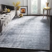 Safavieh Handmade Mirage Modern Light Grey Viscose Rug - 9' x 12'