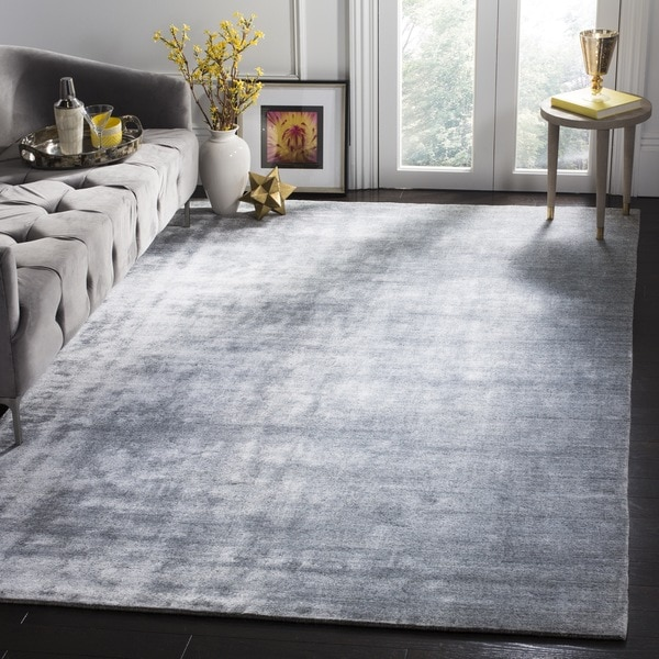 Safavieh Handmade Mirage Modern Light Grey Viscose Rug (9' x 12')