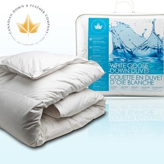 Canadian Down & Feather Company White Goose Down Comforter (Regular Weight)