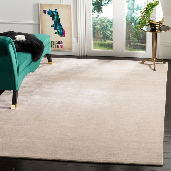 Safavieh Handmade Mirage Modern Beige Silky Viscose Rug - 8' x 10'