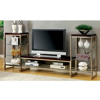 Furniture of America Jacie Contemporary 3-piece Gold Entertainment Unit