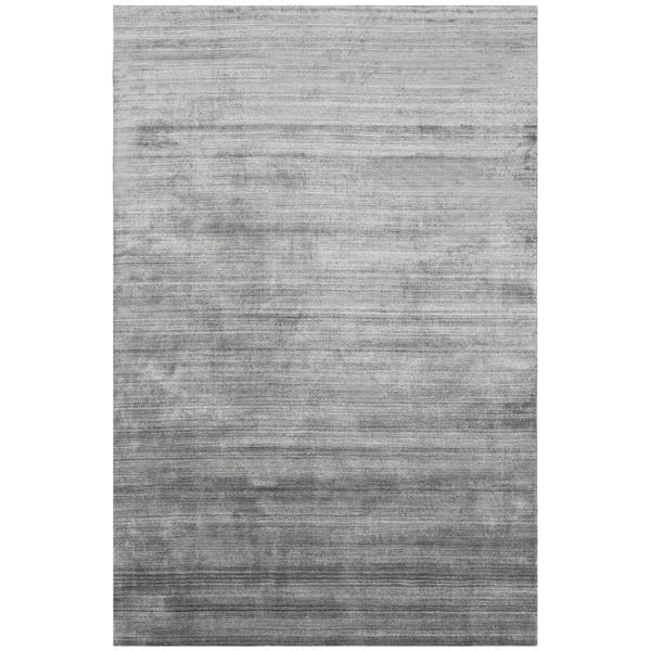 Safavieh Handmade Mirage Modern Dark Grey Viscose Rug (9' x 12') - 9' x 12'