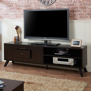 Furniture of America Espella Mid-century Cappuccino 72-inch Entertainment Center