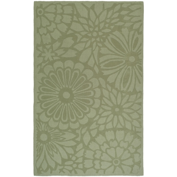 Martha Stewart by Safavieh Full Bloom Pumpkin Seed Wool Rug - 8' x 10'
