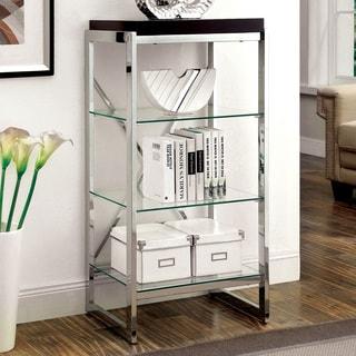 Furniture of America Jacie Contemporary Chrome 3-shelf Pier Cabinet