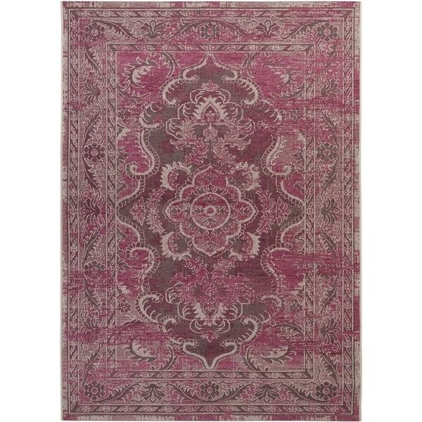 Safavieh Palazzo Light Grey Anthracite/ Purple Overdyed Area Rug (8' x 11')