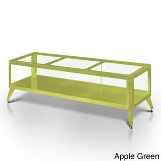 Furniture of America Linden Modern Glass Top TV Stand