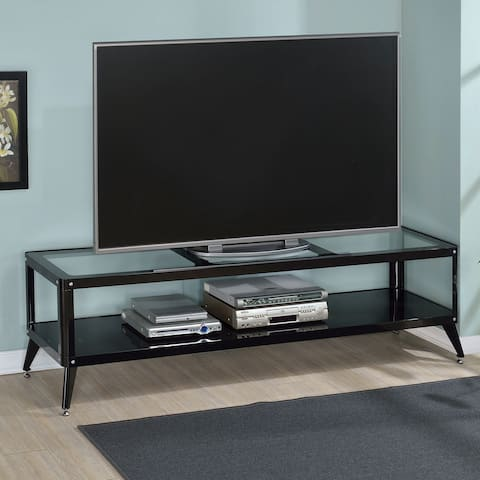 Linden Modern Glass Top TV Stand by FOA
