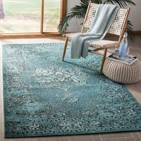 Safavieh Palazzo Black/ Cream/ Turquoise Overdyed Area Rug - 8' X 11'